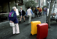 My Roncato suitcases in Victoria, B.C., in 1995. Twain left North America from Victoria.