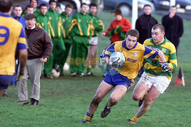 Action between Syddan and Senchelstown in the Feis Cup Final in Rathkenny on Sunday..Picture: Paul Mohan/Newsfile