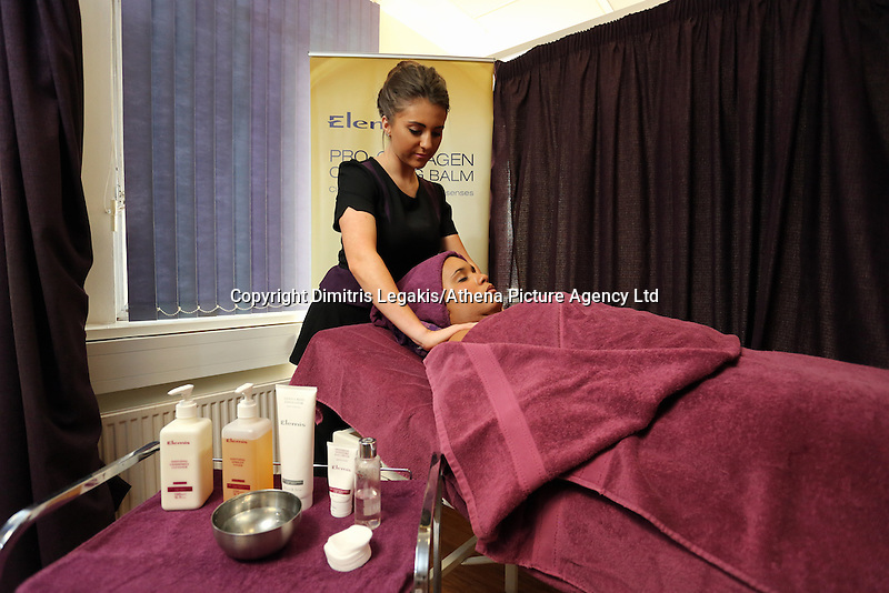 Pictured: A beautician. Monday 22 September 2014<br />
