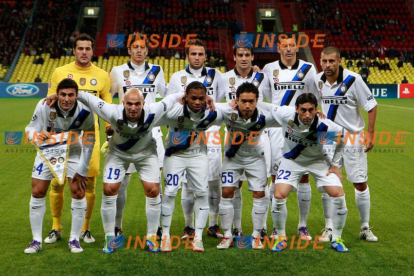 """Formazione Inter.Mosca 27/9/2011 Stadio """"Luzhniki"""".Football / Calcio Champions League 2011/2012.CSKA Moscow vs Inter.Foto Paolo Nucci Insidefoto"""