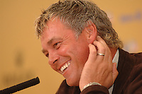 18th September, 2006. Dublin Ireland. Ryder Cup press Conference at the K club..European Ryder cup team wild card entry Darren Clarke gives a press conference at the above..Photo: Barry Cronin/ Newsfile.