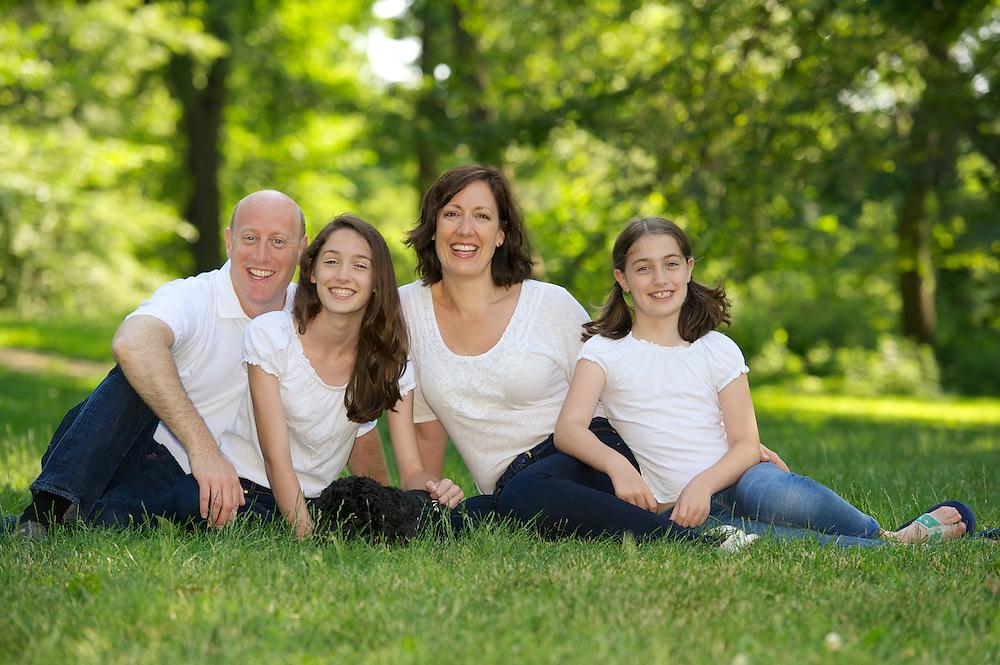 Family portrait on grass, Central Park