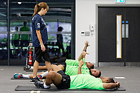 Pictured: Physiotherapist, Alisa Jones during the Swansea City FC training session at the Fairwood training ground in Swansea, Wales, UK Saturday 29 June 2019Saturday 29 June 2019<br /> Re: Swansea City FC training, Fairwood, near Swansea, Wales, UK