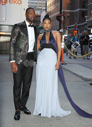 NEW YORK, NY-June 09: Dwyane Wade, Gabrielle Union at the 7th Annual amfAR Inspiration Gala at the Skylight at Moynihan Station in New York. NY June 09, 2016. Credit:RW/MediaPunch