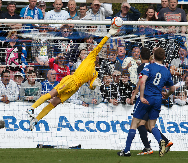 Neil Alexander pulls out a stunning save to deny Peterhead