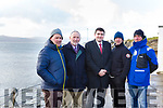 Minister Brendan Griffin TD with the Committee of Restore Fenit Diving Boards Campaign (RFDBC), at the Bathing Slip for new diving boards in Fenit on Tuesday morning last. L-r, Mike O'Neill, Billy Ryle, Minister Brendan Griffin, John Edwards and Liam Doyle.