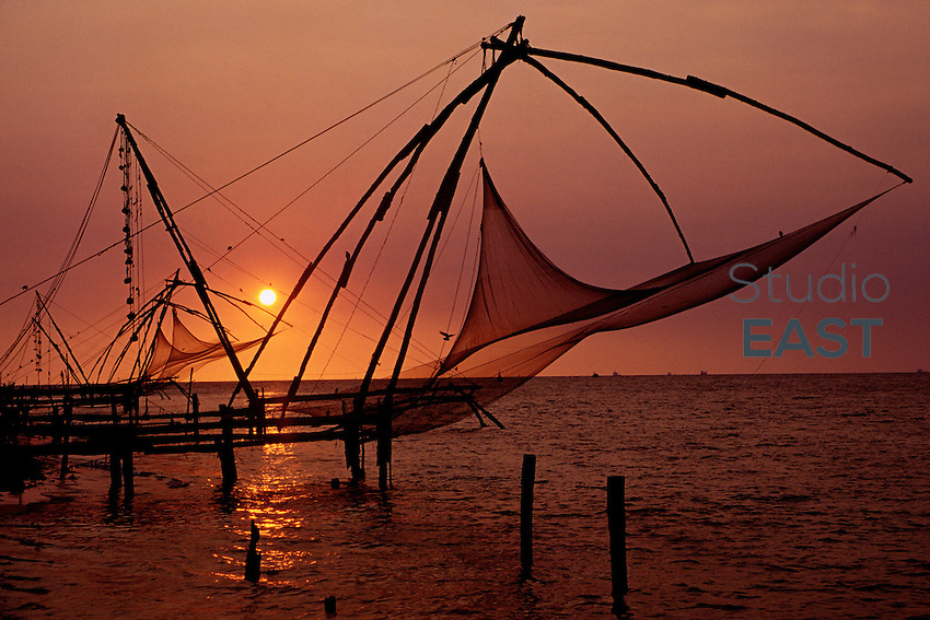 Fishing nets in Cochin, India