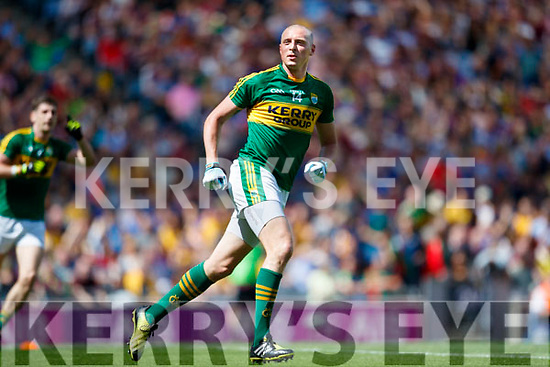 Kieran Donaghy Kerry celebrates his side's only goal in the All Ireland Senior Football Quarter Final at Croke Park on Sunday.