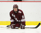 Jack McNamara (Colgate - 18) - The Harvard University Crimson defeated the visiting Colgate University Raiders 6-2 (2 EN) on Friday, January 28, 2011, at Bright Hockey Center in Cambridge, Massachusetts.