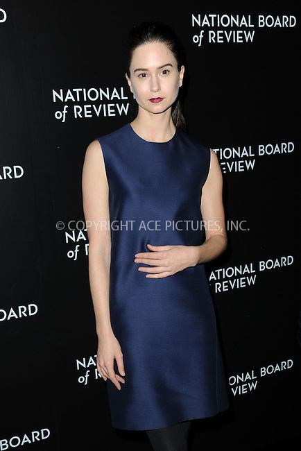 WWW.ACEPIXS.COM<br /> January 6, 2015 New York City<br /> <br /> Katherine Waterston attending the 2014 National Board of Review Gala at Cipriani 42nd Street on January 6, 2015 in New York City.<br /> <br /> Please byline: Kristin Callahan/AcePictures<br /> <br /> ACEPIXS.COM<br /> <br /> Tel: (212) 243 8787 or (646) 769 0430<br /> e-mail: info@acepixs.com<br /> web: http://www.acepixs.com