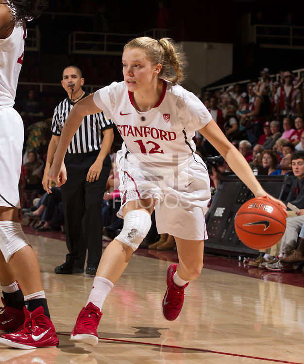 STANFORD, CA - JANUARY 16, 2015--<br /> Stanford&rsquo;s Brittany McPhee, during the Arizona game at Maple Pavilion.