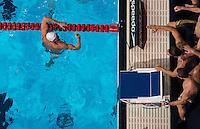 4x100 Medley Relay men<br /> France FRA, LACOURT Camille, PEREZ-DORTONA Giacomo, STRAVIUS Jeremy, GILOT Fabien, gold medal<br /> Swimming - Nuoto <br /> Barcellona 4/8/2013 Palau St Jordi <br /> Barcelona 2013 15 Fina World Championships Aquatics <br /> Foto Diego Montanoi Insidefoto