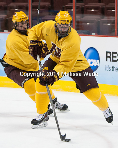 - The University of Minnesota Golden Gophers practiced on Wednesday, April 9, 2014, at the Wells Fargo Center in Philadelphia, Pennsylvania during the 2014 Frozen Four.