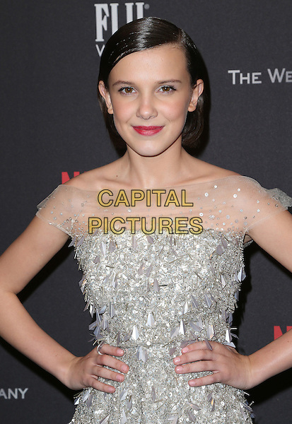 08 January 2016 - Beverly Hills, California - Millie Bobby Brown. 2017 Weinstein Company And Netflix Golden Globes After Party held at the Beverly Hilton. <br /> CAP/ADM/FS<br /> &copy;FS/ADM/Capital Pictures