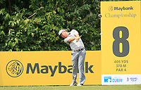 David Lipsky (USA) in action on the 8th tee during Round 2 of the Maybank Championship at the Saujana Golf and Country Club in Kuala Lumpur on Friday 2nd February 2018.<br /> Picture:  Thos Caffrey / www.golffile.ie<br /> <br /> All photo usage must carry mandatory copyright credit (&copy; Golffile | Thos Caffrey)
