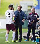 Robbie Neilson embraces Tony Watt