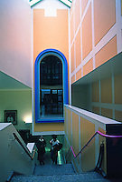 James Stirling: Clore Gallery, Interior. Part of Tate Gallery, London. Photo '87.