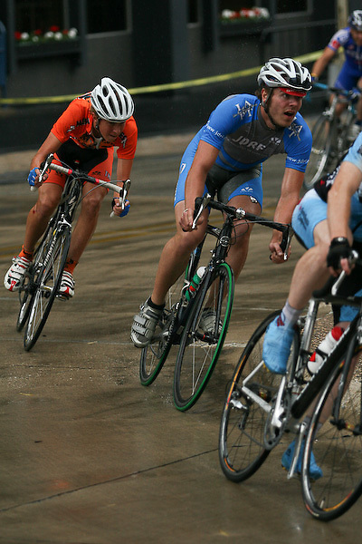 2007 Snake Alley Criterium Mens category 3 held in Burlington Iowa.