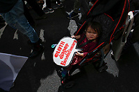 NEW YORK, NY - SEPTEMBER 20: A baby attends a rally for action on climate change on September 20, 2019 in New York City. People world wide participate in a day of protest calling for urgent action to fight climate change.(Photo by Kena Betancur/VIEWpress)
