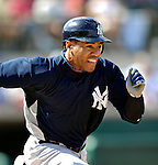 16 March 2007: New York Yankees outfielder Kevin Thompson in action against the Houston Astros at Osceola County Stadium in Kissimmee, Florida...Mandatory Photo Credit: Ed Wolfstein Photo