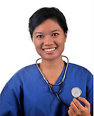 stock photo of Asian female medical doctor and healthcare provider