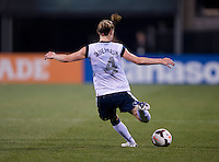 Becky Sauerbrunn. The USWNT tied New Zealand, 1-1, at an international friendly at Crew Stadium in Columbus, OH.