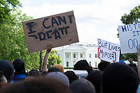 Protestors gather in Lafayette Square across from the White House in Washington, D.C., U.S., on Sunday, May 31, 2020, following the death of an unarmed black man at the hands of Minnesota police on May 25, 2020.  Credit: Stefani Reynolds / CNP/AdMedia
