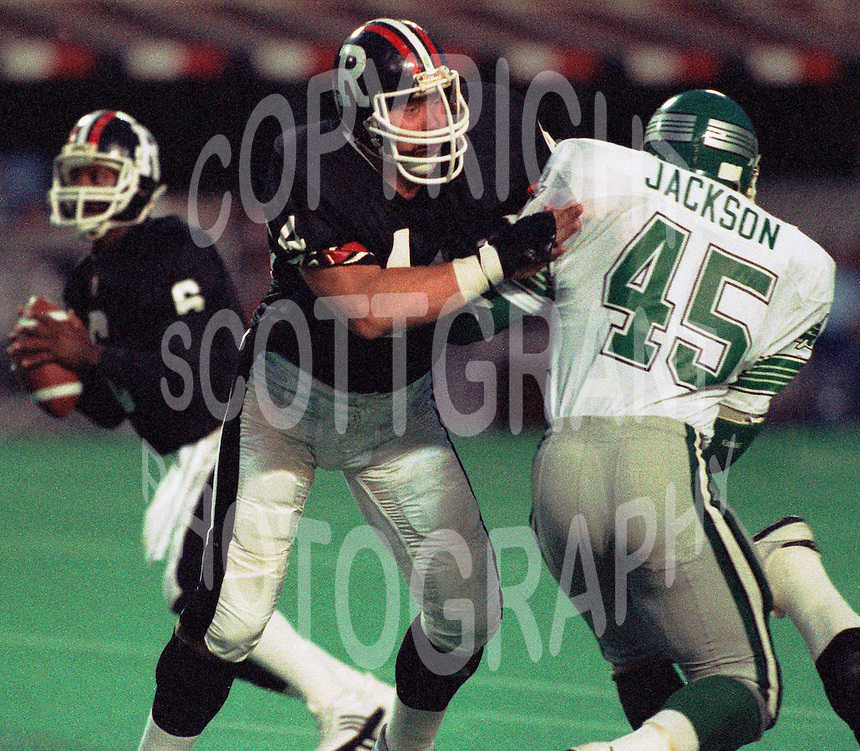 Mike Hameluck Ottawa Rough Riders. 1985. Photo F. Scott Grant