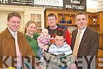 NEW: New house buyers David Cronin, Tara Quirke with their baby Danielle Cronin on Saturday looking over the brouchers on theCeltic Interior Degine Furniture(Lisstelick) at the Kingdom Home and Motor show on The Dan Spring Road, Tralee on Saturday helping them out were the Donal and Seamus O'Connell and Aidan O'Leary (Celtic Interior Degins).   Copyright Kerry's Eye 2008