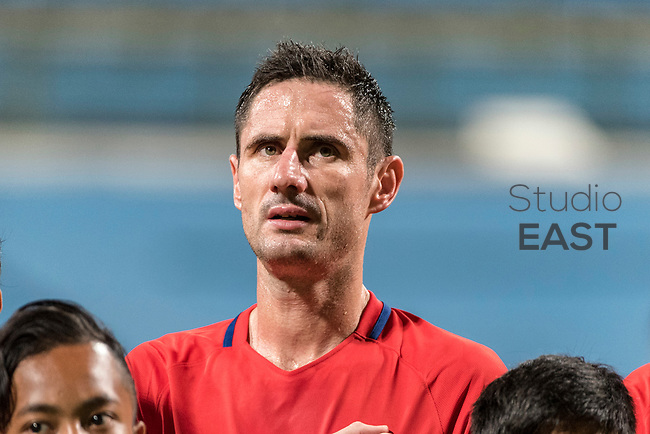 SINGAPORE, SINGAPORE - AUGUST 31: Daniel Bennett of Singapore during the international friendly match between Singapore and Hong Kong at the Jalan Besar Stadium on August 31, 2017, in Singapore, Singapore. (Photo by Getty Images)