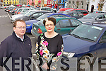 FREE PARKING: Listowel town clerk, David O'Brien and Listowel mayor, Cllr Maria Gorman announcing details of the free two-hour parking system to be introduced in the town on Saturdays for 2012.