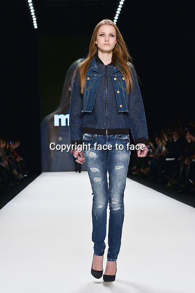 Models walking the Runway-Show Mavi during the Mercedes-Benz Fashion Week Berlin in Berlin 13.01.2014. Credit Timm/face to face