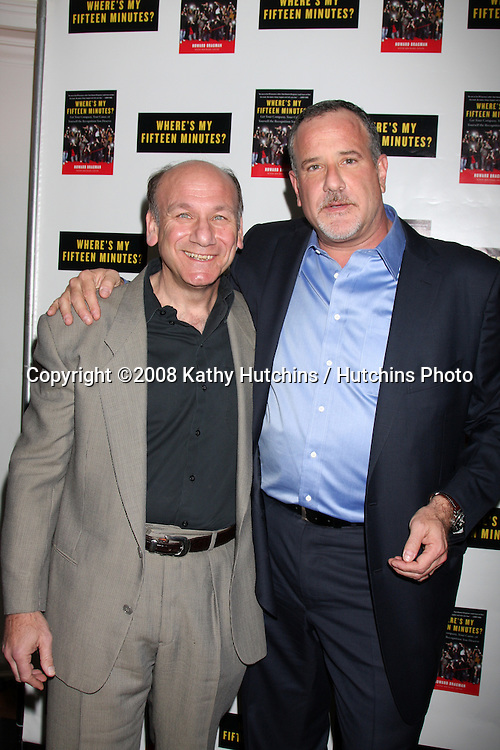 "Howard Bragman & Guest.Howard Bragman's Book Party for ""Where's My Fifteen Minutes"" at the Chateau Marmont Hotel in West Los Angeles, CA on .January 14, 2009.©2008 Kathy Hutchins / Hutchins Photo..                ."