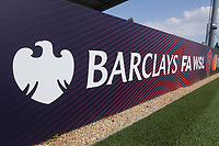 General view of Barclay FAWSL signage ahead of Arsenal Women vs Tottenham Hotspur Women, Friendly Match Football at Meadow Park on 25th August 2019