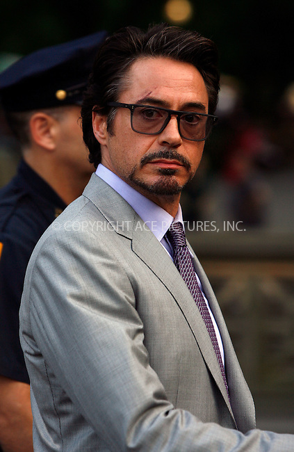 WWW.ACEPIXS.COM . . . . .  ....September 2 2011, New York City....Actor Robert Downey Jr on the Central Park set of the new Movie 'The Avengers' on September 2 2011 in New York City....Please byline: CURTIS MEANS - ACE PICTURES.... *** ***..Ace Pictures, Inc:  ..Philip Vaughan (212) 243-8787 or (646) 679 0430..e-mail: info@acepixs.com..web: http://www.acepixs.com