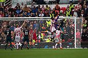 30th September, bet365 Stadium, Stoke-on-Trent, England; EPL Premier League football, Stoke City versus Southampton; Stoke City's goalkeeper Jack Butland thumps the ball clear