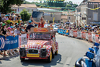 Publictiy caravan at the start of  Stage 2: Mouilleron-Saint-Germain > La Roche-sur-Yon (183km)<br /> <br /> Le Grand Départ 2018<br /> 105th Tour de France 2018<br /> ©kramon
