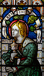 Mary Magdalene stained glass window, Claydon church, Suffolk, England, UK c 1867 by Lavers, Barraud and Westlake