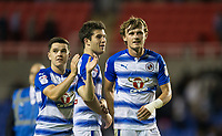 (l-r) Liam Kelly, Pelle Clement & John Swift of Reading at full time during the Sky Bet Championship match between Reading and Aston Villa at the Madejski Stadium, Reading, England on 15 August 2017. Photo by Andy Rowland / PRiME Media Images.<br /> **EDITORIAL USE ONLY FA Premier League and Football League are subject to DataCo Licence.