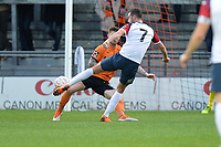 Adam Thomas Of Stockport County FC shoots wide during Barnet vs Stockport County, Emirates FA Cup Football at the Hive Stadium on 2nd December 2018