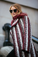 Olivia Palermo attends Day 4 of New York Fashion Week on Feb 16, 2015 (Photo by Hunter Abrams/Guest of a Guest)