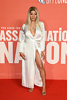 "Monroe Bergdorf<br /> arriving for the London Film Festival screening of ""Assassination Nation"" at the Cineworld Leicester Square, London<br /> <br /> ©Ash Knotek  D3450  19/10/2018"