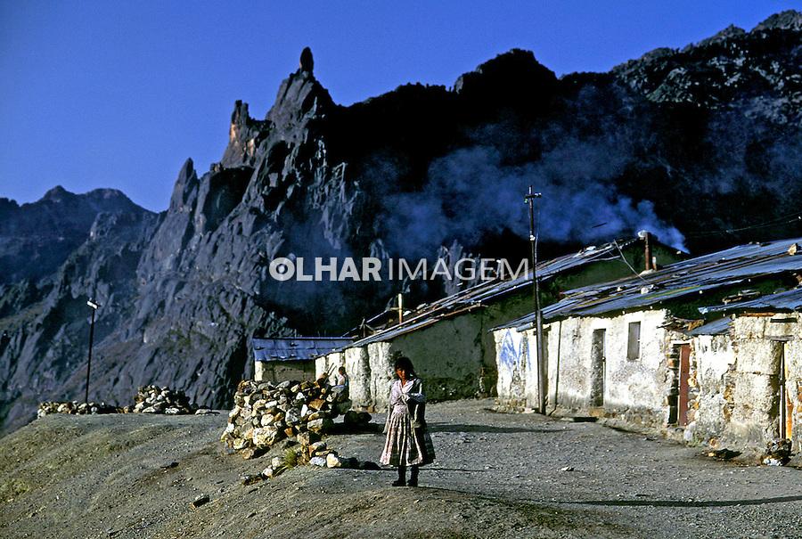 Casas de cooperativa mineira. Bolivia. 1992. Foto de Salomon Cytrynowicz.