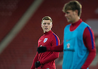 Alfie Mawson (Swansea City) of England during the Under 21 International Friendly match between England and Italy at St Mary's Stadium, Southampton, England on 10 November 2016. Photo by Andy Rowland.
