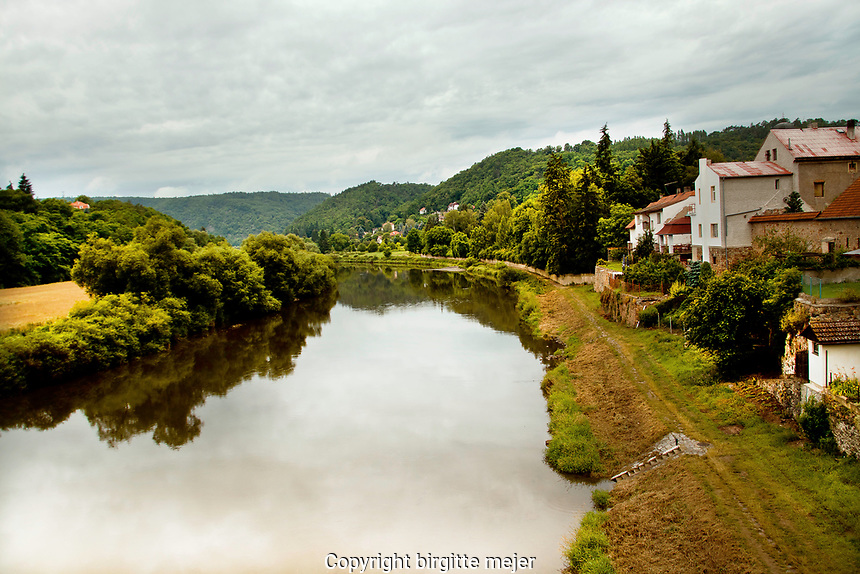 A small village by a river, with endless view to the horizon.