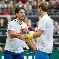 14-02-13, Tennis, Rotterdam, ABNAMROWTT, Thiemo de Bakker, Jesse Huta Galung