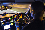 © Joel Goodman - 07973 332324 . 16 August 2013 . Manchester , UK . INSPECTOR MATT BAILEY-SMITH drives along the motorway . Drive along with Inspector Matt Bailey-Smith ( 16366 ) of Greater Manchester Police 's Serious Collision Unit . Photo credit : Joel Goodman