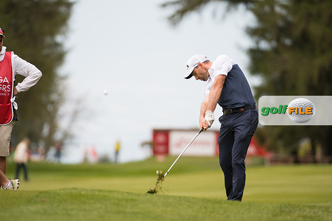 Oliver Wilson (ENG) in action on the 2nd hole during final round at the Omega European Masters, Golf Club Crans-sur-Sierre, Crans-Montana, Valais, Switzerland. 01/09/19.<br /> Picture Stefano DiMaria / Golffile.ie<br /> <br /> All photo usage must carry mandatory copyright credit (© Golffile   Stefano DiMaria)