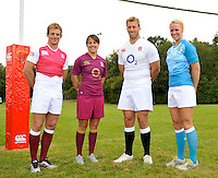 Drybrook, England.  during the RFU and Canterbury   Official launch of the new season's England kit at Drybrook RFC Mannings Ground, Gloucestershire, England on September 19, 2012