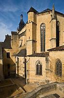 Europe/France/Aquitaine/24/Dordogne/Périgord Noir/Sarlat-la-Canéda: Chevet de l'église  Saint-Sacerdos, ancienne cathédrale